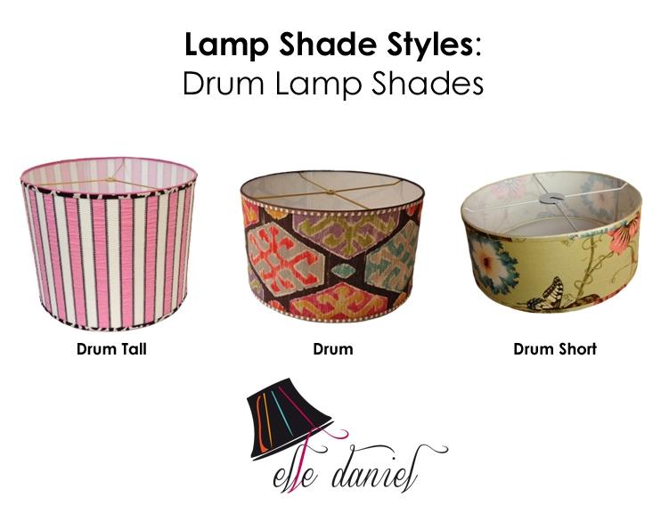 Lampshade Shapes Elle Daniel, Chandelier Lamp Shades Drum Shape